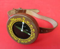 US ARMY PARATROOPER WRIST COMPASS W/STRAP-TAYLOR LIQUID FILLED