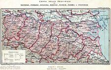 Carta: Province di Ravenna,Ferrara,Bologna,Modena,Reggio,Parma e Piacenza. 1900