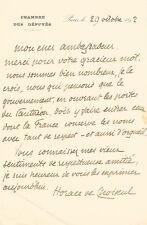 Horace de CHOISEUL. Lettre autographe signée à un ambassadeur.
