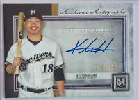 KESTON HIURA 2020 TOPPS MUSEUM AUTOGRAPH CARD #d/299 MILWAUKEE BREWERS AUTO MLB