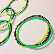 Wristband Bracelet Bangle Jelly Bangles Holiday Rubbers x6 Set Jamaican Style