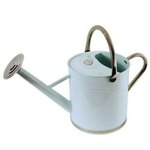 9L Watering Can Traditional 2Gal Garden can in Galvanised Metal Vintage Cream