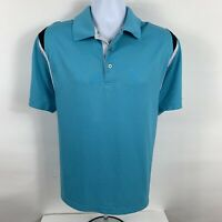 PGA Tour Shirt Mens Size Large Golf Polo Teal Short Sleeve Business Casual Sport