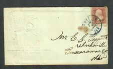 Albino McClellan Patriotic Cover Transcribed Letter July 5 1862 Soldier