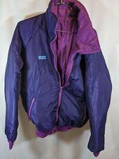 Columbia Reversible Bomber Ski Jacket Men's SzL Purple/Plum