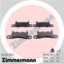 ZIMMERMANN Rear Brake Pads 24721.170.1 fits VW TOUAREG 7P5 7P6 4.2 V8 TDI 3.0 V