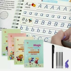 4 Kids Magic Handwriting Copybook Reused Groove Practice Calligraphy Book Number
