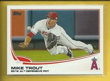 Mike Trout 2013 Topps Defensive POY Card # 536 Los Angeles Angels Baseball MLB
