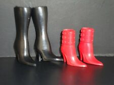 2 Pairs of Trendy Boots Made to Fit Barbie Doll