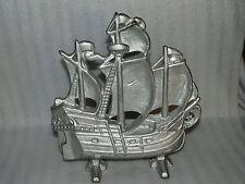 Vintage Albany Toy Foundry Sailing Ship Cast Iron Door Stop Doorstop