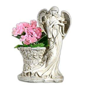 Deko Schutzengel Blumentopf Grabengel Grabschmuck Engel Engelfigur Pflanztopf