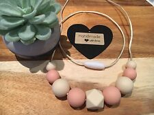 Silicone Necklace for Mum Jewellery Sensory (was Teething) Beads Aus Gift Peach