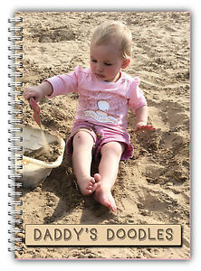 A4 PERSONALISED NOTEBOOK USE YOUR OWN PHOTO NOTES BOOK GIFT 100 PAGES WIRE BOUND