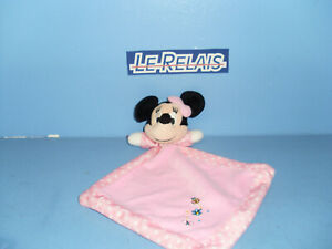 Doudou Peluche Minnie Mouchoir Rose Blanc Étoile gris Mouton Disney Baby 4 dispo