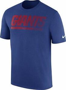 New York Giants NFL Royal Blue Sideline Legend Performance T-Shirt Size L