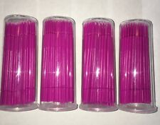 400 4 Vials Pink Dental Micro Brush Lash Tools Fine Tips 15mm
