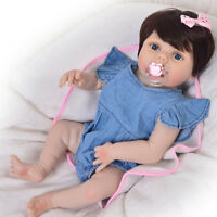 Newborn Baby Doll Costume Jumpsuit Denim Rompers For Reborn Baby Girl Dolls