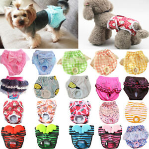 Female Pet Dog Puppy Physiological Sanitary Pants Diaper Menstrual Underwear UK