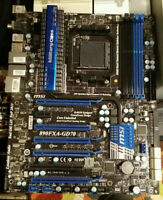 MSI 890FXA-GD70 AM3/AM3+ Phenom Motherboard w/IO Plate Tested