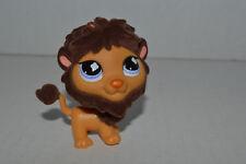 Littlest Pet Shop~#809~Lion~Orange Brown~Brown Fuzzy Mane~Purple Clover Eyes