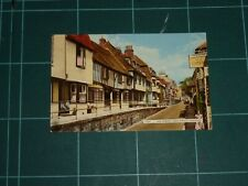 HASTINGS OLD HOUSES ON THE HIGH STREET  1963 POSTED POSTCARD