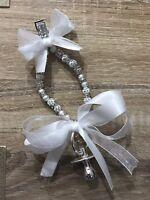 Beautiful Silver Dummy  Pram Charm 💕Christening Baby Shower Gift Ideas💙💕