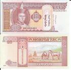 MONGOLIA 20 TUGRIK 2014 LOTE DE 10 BILLETES