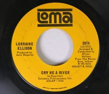 Northern Soul 45 Lorraine Ellison - Cry Me A River / Heart Be Still On Loma