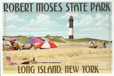 Robert Moses State Park Long Island New York Fire Island Lighthouse NY, Postcard