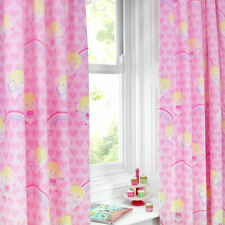 Fairy Girls Kids Childrens Curtains Pink Hearts 66X54, 66x72 Pencil Pleat Lined