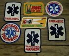 VINTAGE LOT OF (7) PARAMEDIC EMT PATCHES PROVISIONAL HURST JAWS OF LIFE