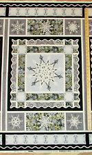 """Crystal Palace Snowflake Christmas Henry Glass Fabric  23"""" Panel   #2209P"""