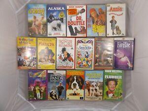 Kids VHS Video Tapes Childrens Bundle Job Lot Disney Barney Matilda Annie Gordy