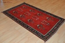 ON TOP QUALITY 4X6 FT. PERSIAN Gabbeh handmade 100 natural wool red rug