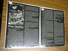 Rifts Free Quebec - Orig. Negative set,  pg. 133 and 135 w/ art by Kent Burles
