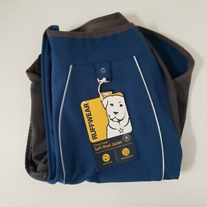 Ruffwear Cloud Chaser Breathable Waterproof Dog Jacket Size Medium 'Blue Moon'