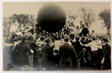 Vintage 1912 University of Illinois Pushball Contest RPPC Real Photo Postcard