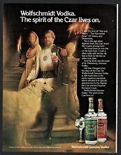 1979 Wolfschmidt Vodka Ad w/ Borzoi
