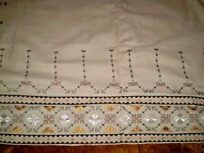 Lovely Vintage Hand-Embroidered Tablecloth  size 62 '' x  72 ''