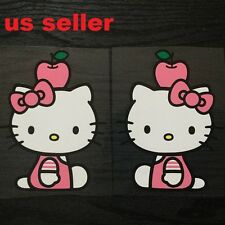 "2pcs 5.5"" x 4"" Hello Kitty Car / Girl Room Sticker /Window/ LapTop / iPad Stick"