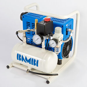Bambi PT5 Compressor - Ultra Low Noise - Oil Free (4 Litres, 0.75 HP)