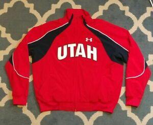 University of Utah Utes Under Armour Travel Jacket Coat Team Player Issued NCAA