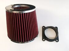 RED Air Intake Filter + MAF Sensor Adapter For 03-06 Infinti G35 3.5L V6
