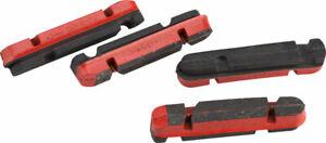 Campagnolo Caliper Rim Brake Pads for Carbon Rims Shimano Holder v2 Set of 4