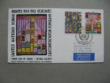 UNITED NATIONS NY, cover FDC 1983, art Hundertwasser