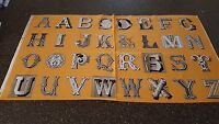 Letter Stitch Panel 23x42 J Wecker Frisch Quilting Treasures Alphabet Orange