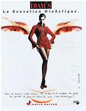 PUBLICITE ADVERTISING 104 1991 DIM la sensation diabolique Diam's bas collants 1