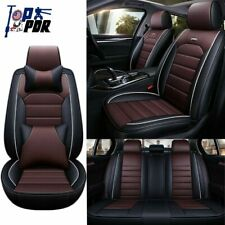 Universal Car Seat Covers Front&Rear Cushion 5-Seat Full Set Pu Leather Interior