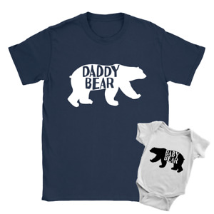 Daddy Bear + Baby Bear Duo Babygrow and T-Shirt New Baby Arrival Father Gift