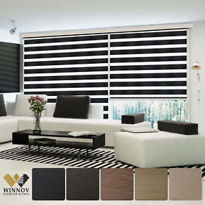Antibacterial Blackout Combi Window Blind Shade Custom Made Zebra Cover Blinds